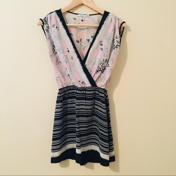 Kimchi Blue UO   Silk Faux Wrap Dress